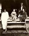 Rabindranath Tagore and Mukul Dey with Kiyo-san and another Japanese lady.jpg