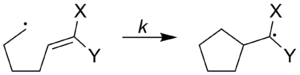 Radical clock - Image: Radical cyclization substituted
