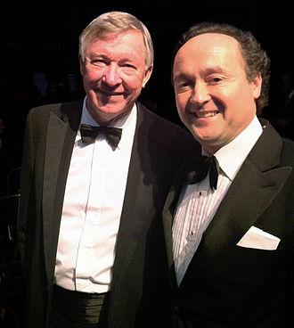Rafael Serrano - Rafael Serrano Quevedo with Sir Alex Ferguson at the Laureus World Sports Awards in London 2012