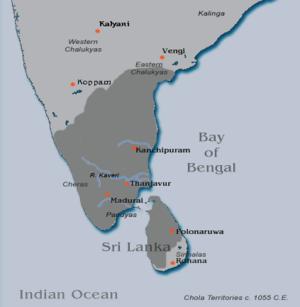 Rajadhiraja Chola - Image: Rajadhiraja territories