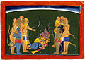 Rama and Laksman Bound by Indrajit's Nagapasha Astra.jpg