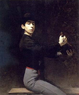 Ramon Casas - Self-portrait as a flamenco dancer, 1883