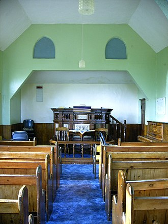 Ramshorn - Ramsor Jubilee Chapel from the main entrance, showing the pulpit
