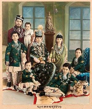 Rana dynasty - Commanding General Babar Shumsher Rana and family