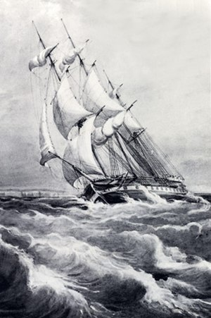 Thomas Henry Huxley - HMS Rattlesnake by the ship's artist Oswald Brierly