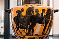 Related to the Antimenes Painter - ABV 280 3 - Herakles and Kerberos - men harnessing chariot - Lyon MdBA E 406-B - 02.jpg