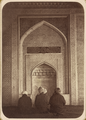Religious Ceremonies and Customs of Tajiks. Interior of the Mosque of Kok Gumbaz in Ura Tiube WDL10861.png