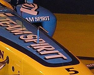 Pitot tube - A Pitot tube on a Renault Formula One car
