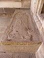Rennes (35) Église Notre-Dame en Saint-Melaine Intérieur Dalle funéraire de l'abbé Jean Rouxel 01.jpg