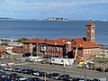 Revere Beach police station from Wonderland garage, October 2012.JPG