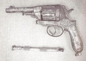 Isa Boletini - Boletini's revolver, at the National Museum of Albania.