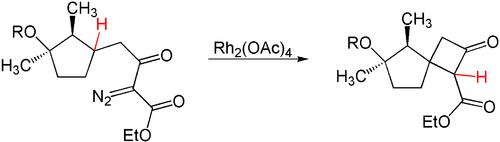 Reaktionsschema einer CH-Insertion