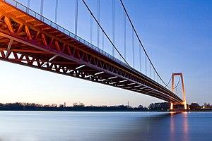 Emmerich Rhine Bridge - underside of the bridge