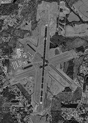 Richard B. Russell Airport - USGS aerial image - 8 February 1999