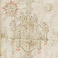 Ripley alchemical scroll - The fall of man combined with the chemical wedding - Princeton University Library MS. 93, around 1590.jpg