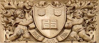 Risley Residential College - Image: Risley shield stonework