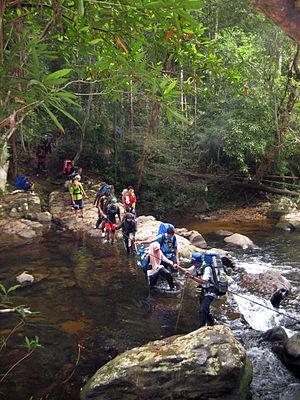 Mount Tahan - Image: River Crossing Near Kuala Juram, Gunung Tahan