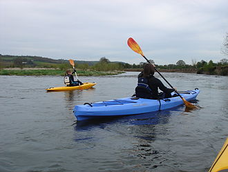 Confluence Outdoor - Kayaking on the River Wye in Wilderness Systems Tarpon kayaks