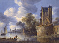 River landscape with a bastion by Adriaen van der Kabel.jpg