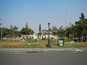 Statue of the Sentinel of Freedom - The Agrifina Circle features the statue of Lapu-Lapu at its center.