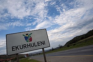 City of Ekurhuleni Metropolitan Municipality - Road sign Ekurhuleni