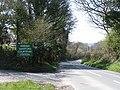 Road to Okehampton passing Sampford Courtenay station on the preserved Dartmoor Railway - geograph.org.uk - 1833097.jpg