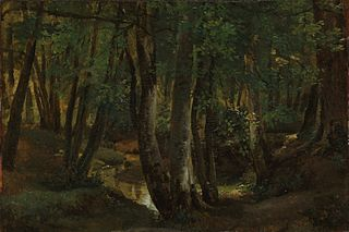 Interior of a Wood at Pierrefitte