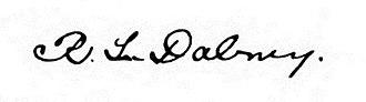 Robert Lewis Dabney - Image: Robert Lewis Dabney's Signature