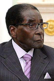 A photograph of Robert Mugabe