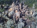 Rock cairns in Penwood State Park 4, 8 March 2010.jpg
