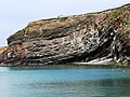 Rock strata, tidal swimming pool, Summerleaze beach, Bude - geograph.org.uk - 1304746.jpg