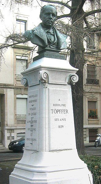 Rodolphe Töpffer - Töpffer Monument in Geneva