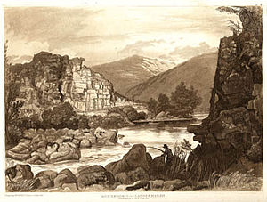 "Holne - ""Roebrook from Langermarsh, the property of Sir B.Wrey, Bart"",  by Frederick Christian Lewis, 1820"