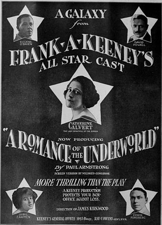 Romance of the Underworld - Poster for the 1918 film