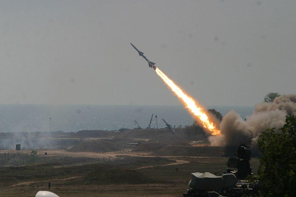 Romanian SA-2 Volhov missile launch