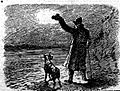 Romanian guards preventing the import of arms from Russia for Bulgaria - Signal light for smugglers on the Servian frontier.jpg
