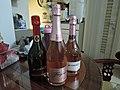 Rose and black sparking wine at home.jpg