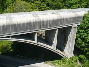 Sherbourne station - Covered bridge over Rosedale Valley Road