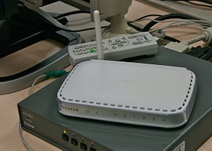 English: Internet wireless router