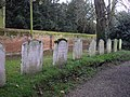 Row of Gravestones at St Mary The Virgin Ardleigh - geograph.org.uk - 1590814.jpg