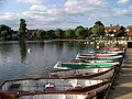 Rowing boats on Thorpeness Meare - geograph.org.uk - 631108.jpg