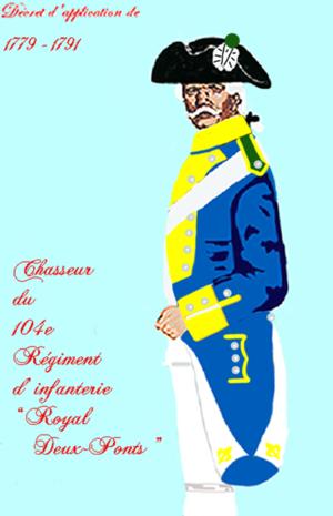 Royal Deux-Ponts Regiment - Image: Royal Deux Ponts 104RI 1779