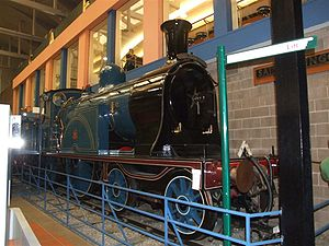 Caledonian Railway Single - Caledonian Railway no. 123 at Glasgow Museum of Transport.