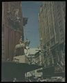 Royal tour decorations, statue of Queen Elizabeth II on horseback, Sydney, 1954 (transparency) - (7331486084).jpg