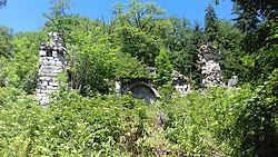 Ruins of Likani monastery of the Mother of God, Georgia 10.jpg