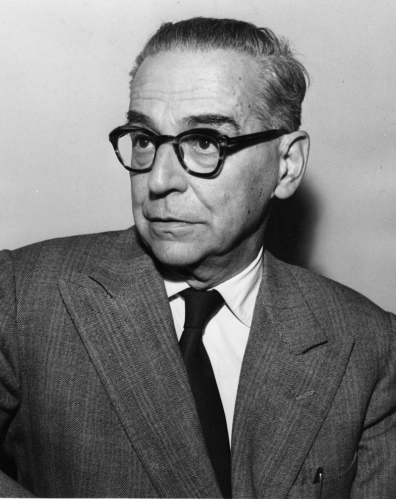 Frontal view of a bespectacled man