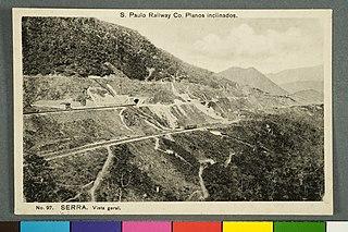 S. Paulo Railway Co. Nº 97. Planos Inclinados. Serra. Vista Geral