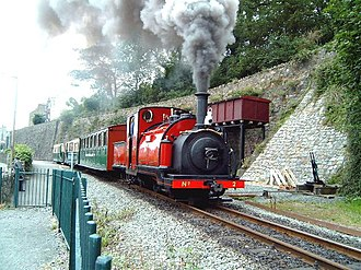 Welsh Highland Railway - Ffestiniog Railway No.2 Prince works the heritage set in 2002 on the WHR