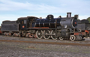 South African Class 5 4-6-2 - Class 5R no. 781 retired at De Aar, 15 April 1978
