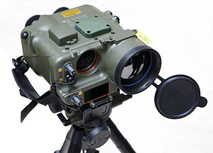 British Army communications and reconnaissance equipment - A Surveillance System and Range Finder (SSARF).